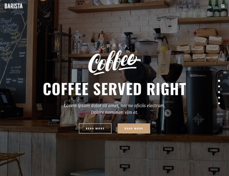 20+ Best Coffee Shop WordPress Themes 2017