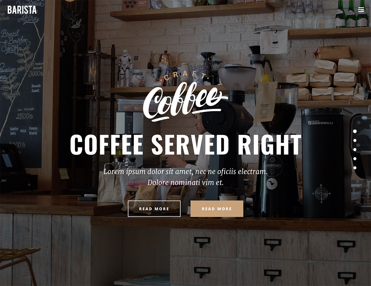 20+ best coffee shop wordpress themes 2017 - colorlib