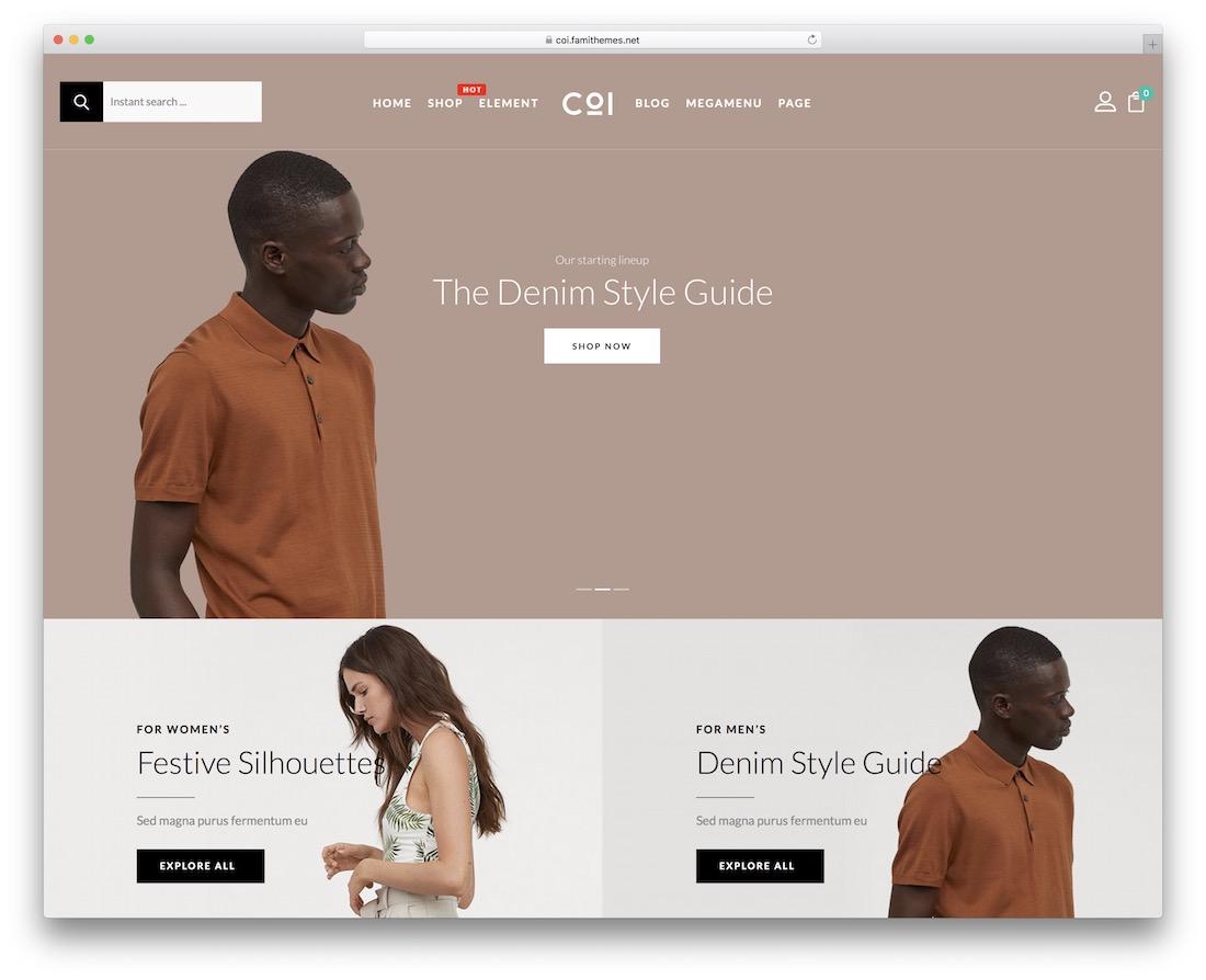 coi wordpress webshop theme