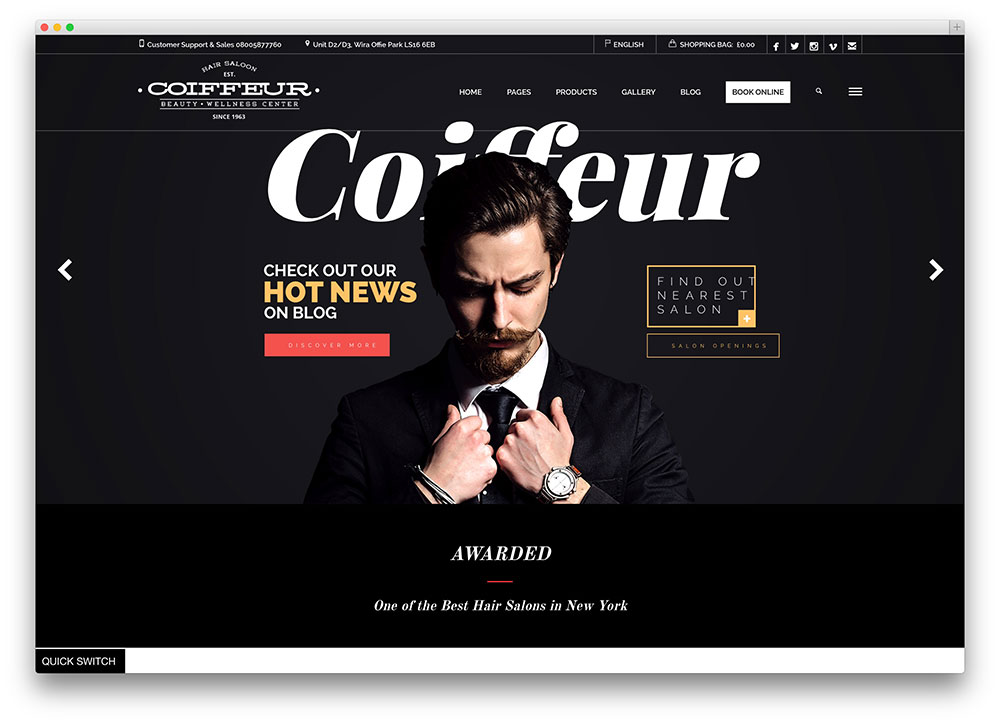 coiffeur - hair salon theme