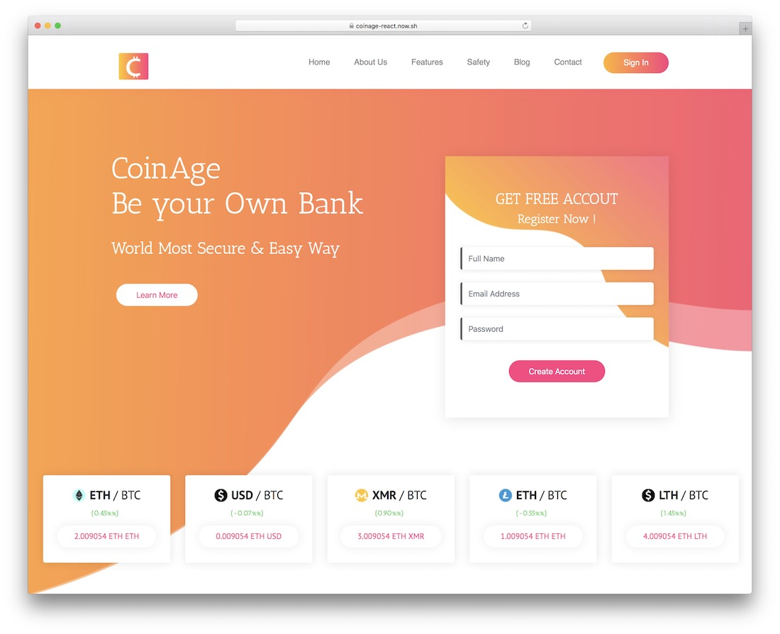 coinage nextjs template