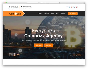 Coinbuzz Free Template