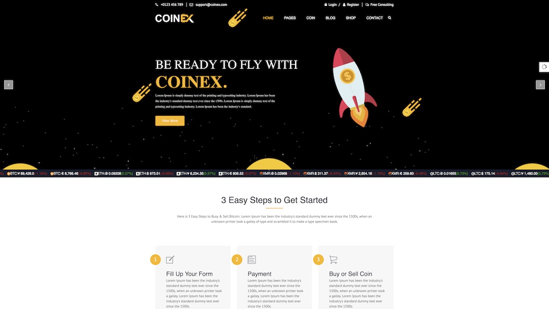 coinex consulting website template