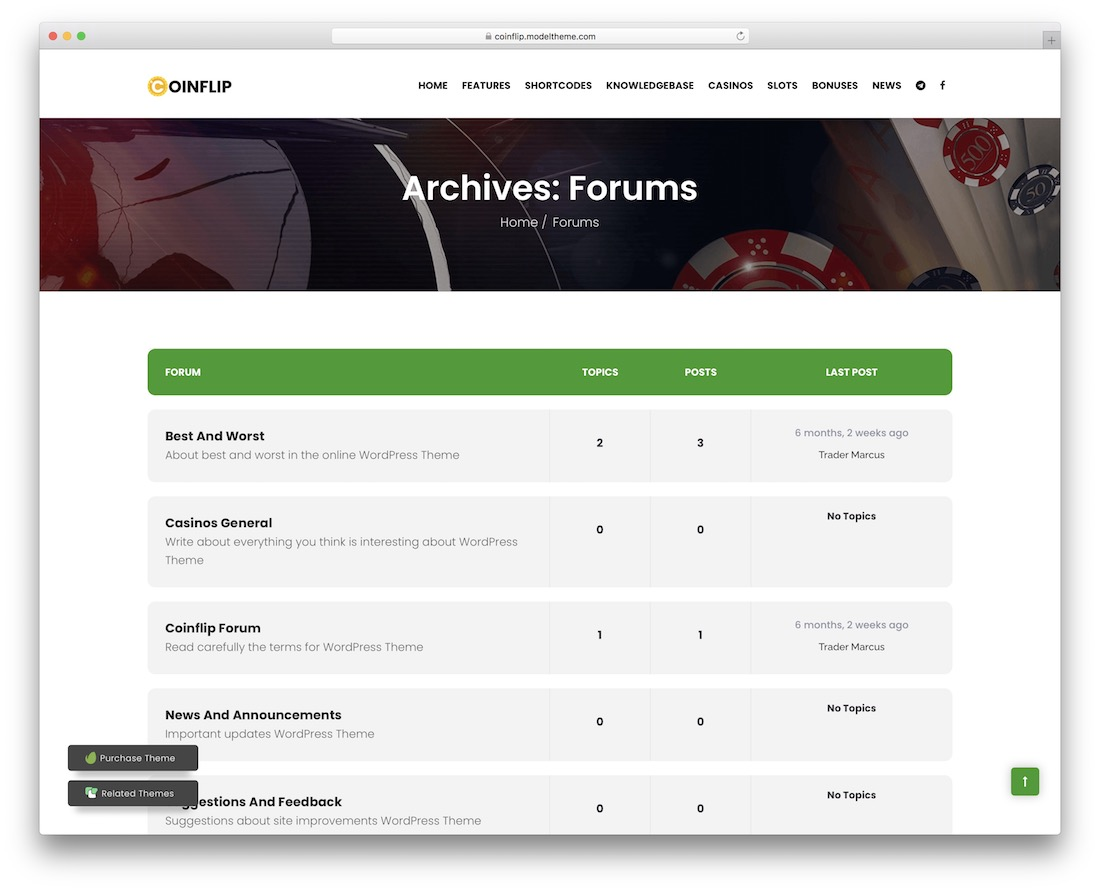 coinflip forum theme
