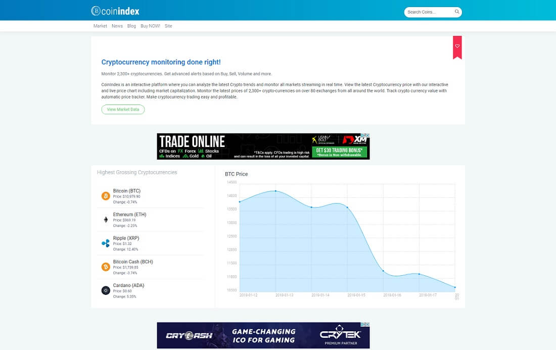 coinindex cryptocurrency wordpress plugin
