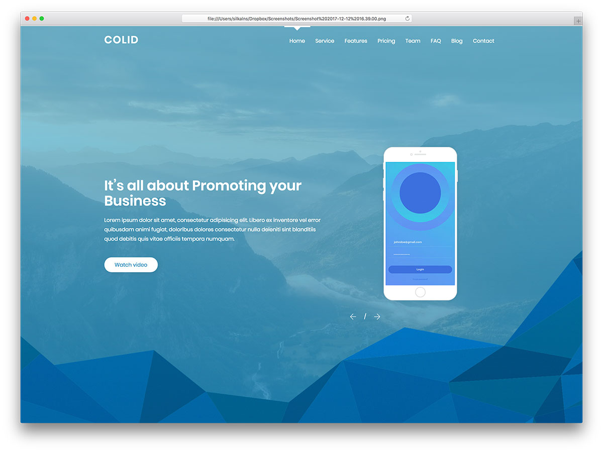19 best free premium membership website templates 2018 colorlib colid is a free material design based flat website template from our team in the header section you can give an interactive intro about your mobile maxwellsz