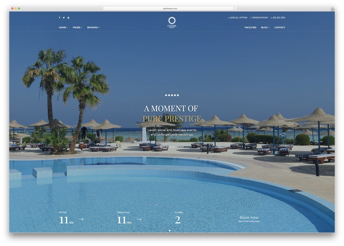 colina html5 hotel website template