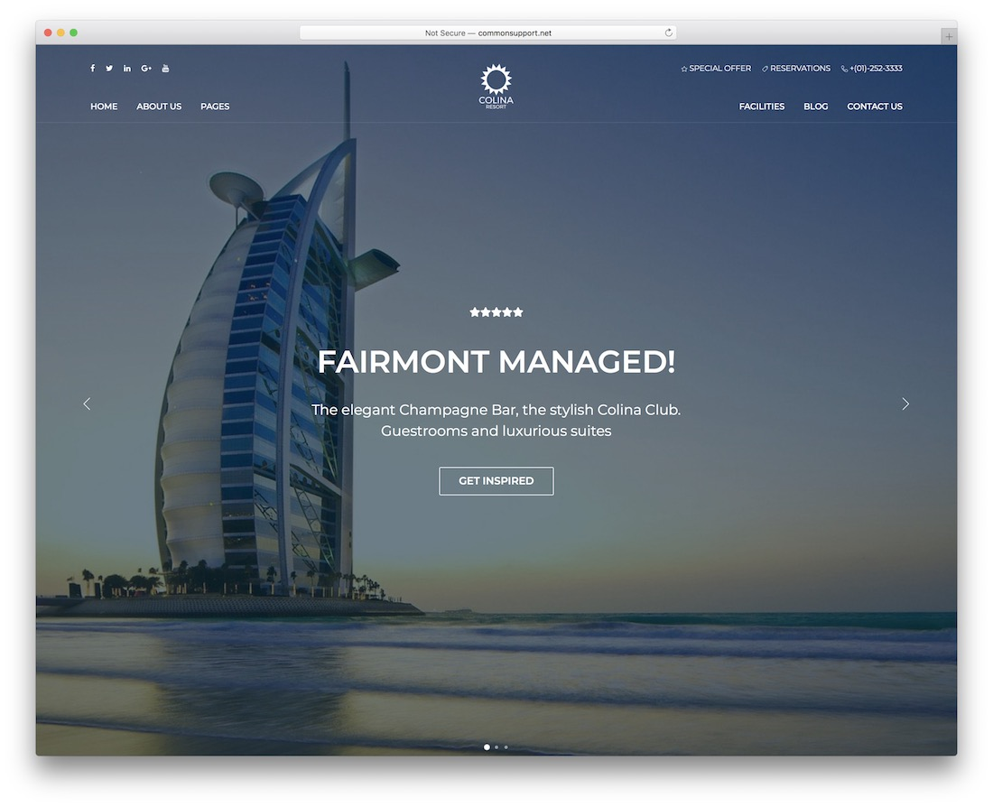 colina wordpress travel theme