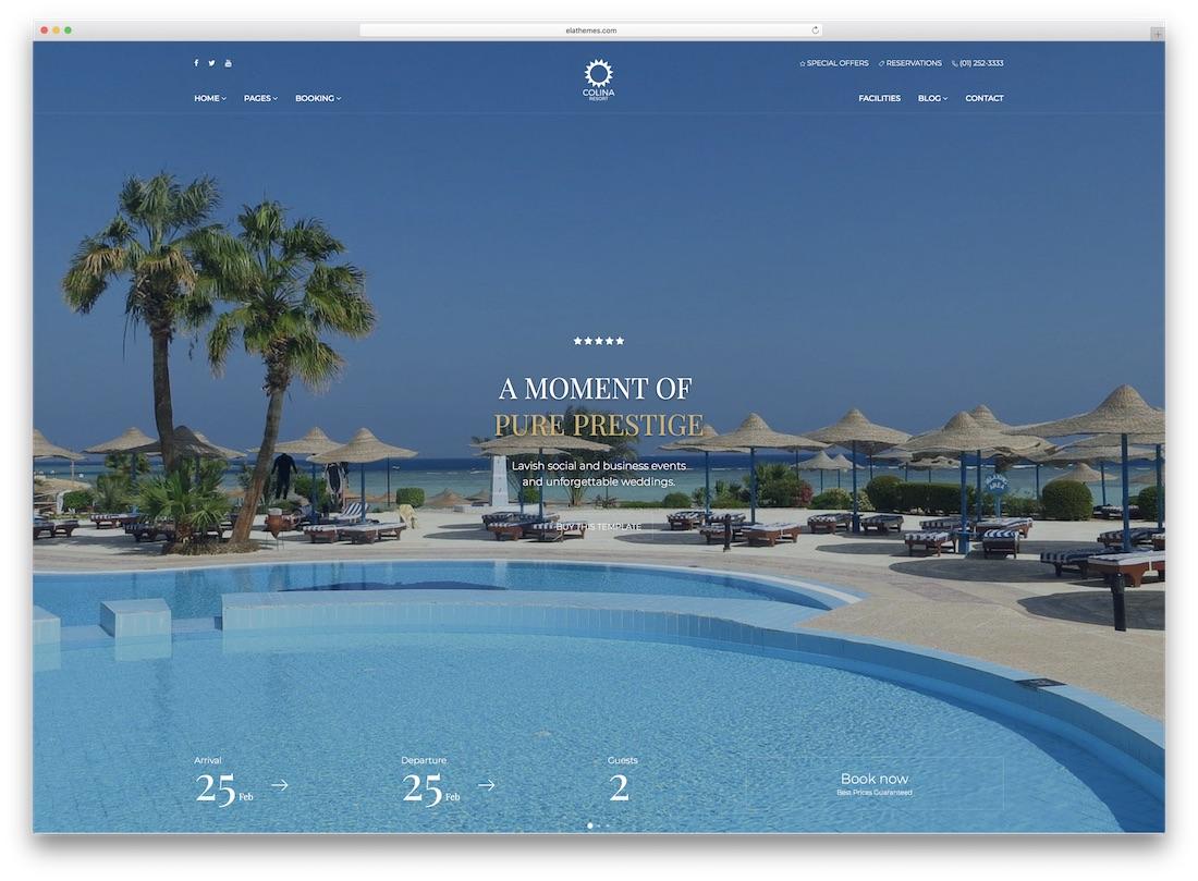 colino travel website template