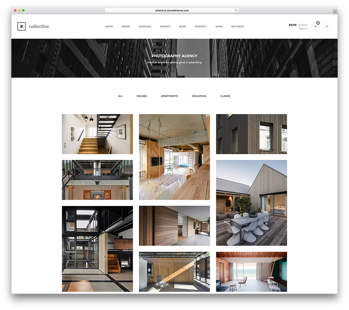 50 best personal portfolio wordpress themes 2018 colorlib for Architecture sites