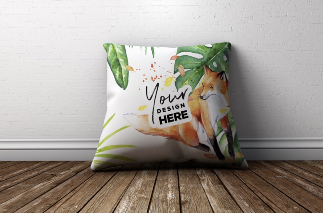 colorful pillow design psd mockup