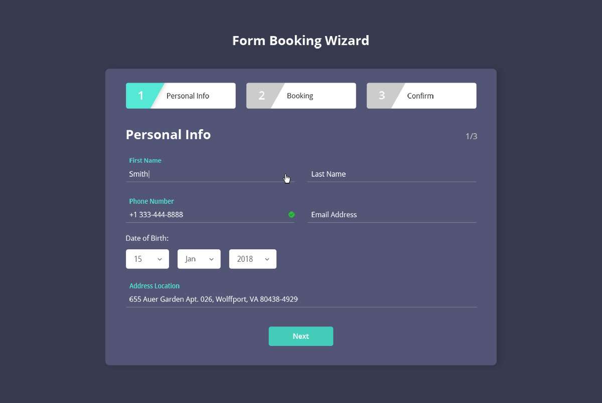 Js Wizard Form