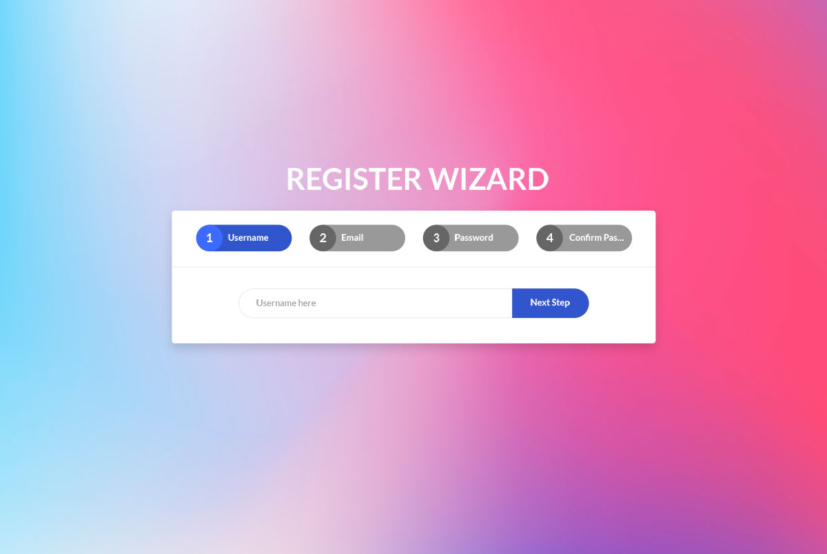 50 Best Free Bootstrap Wizards & Forms 2019 - Colorlib
