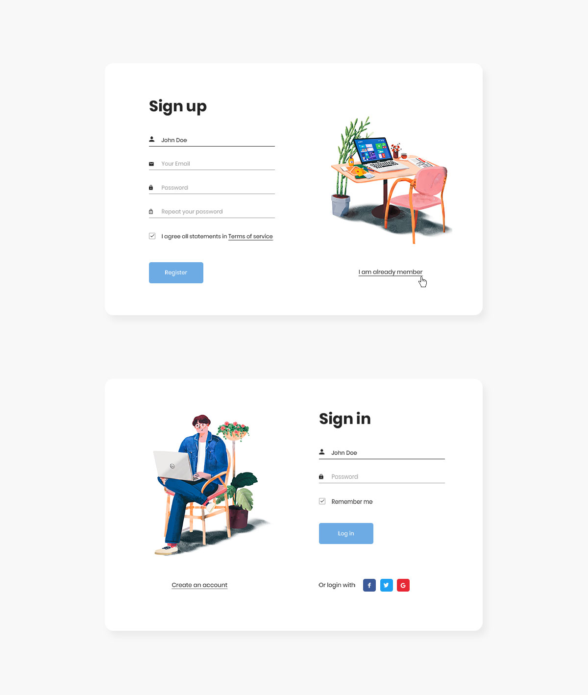 50 best free bootstrap registration forms for all sites 2018 colorlib