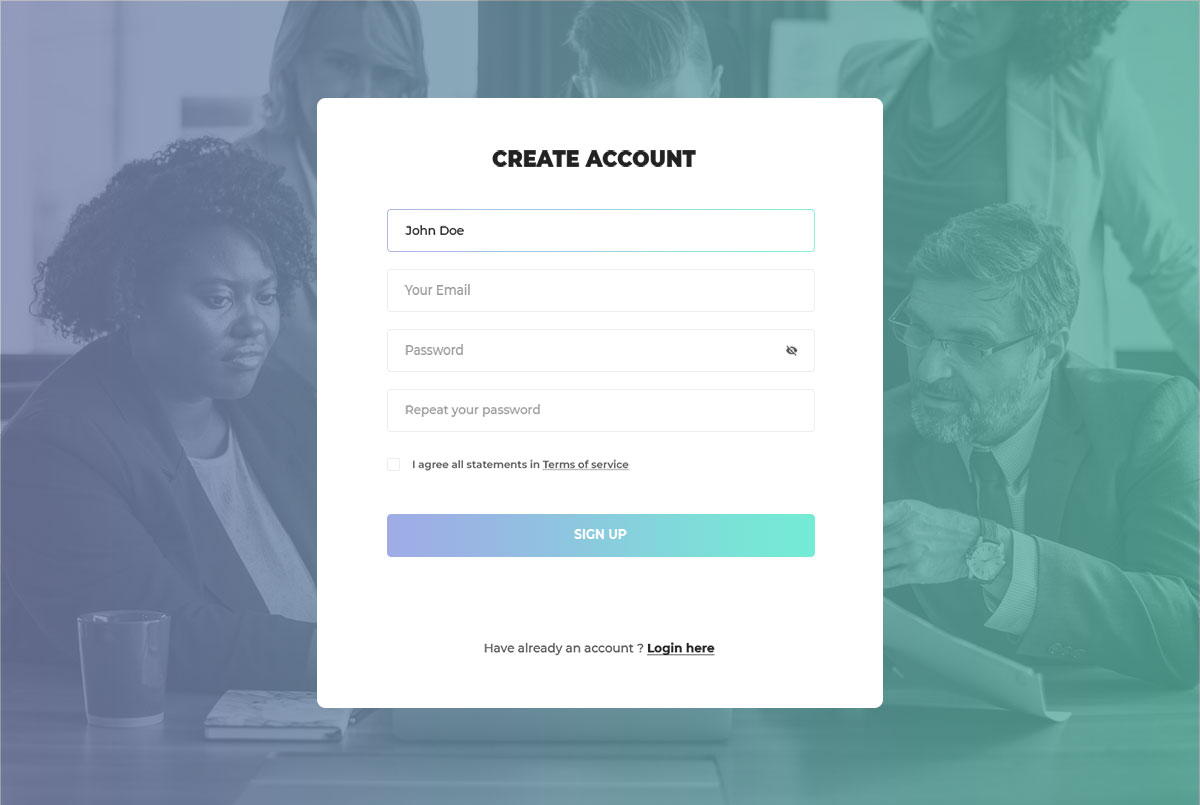 66 best free bootstrap registration forms for all sites - Web application home page design ...
