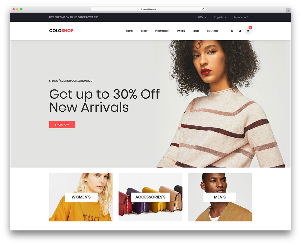 30 Free Ecommerce Website Templates Built With Bootstrap 2019 Colorlib