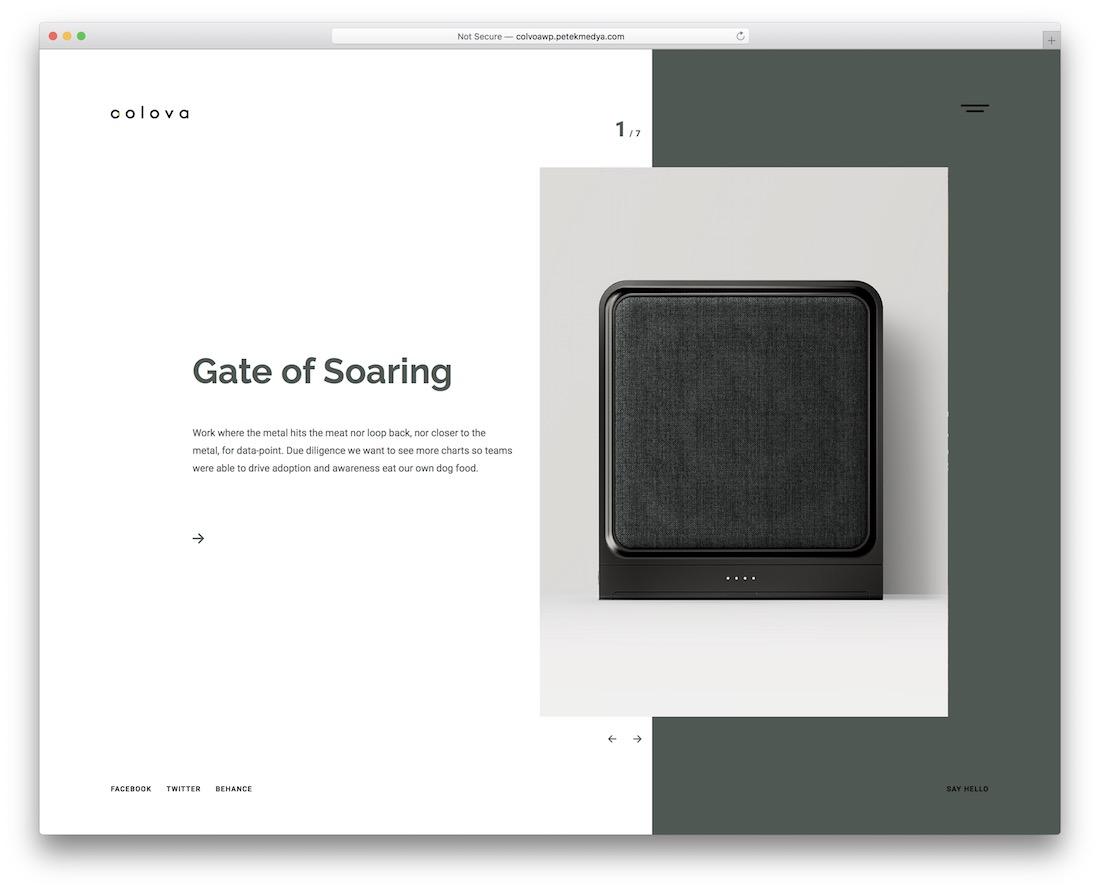 colova clean website template