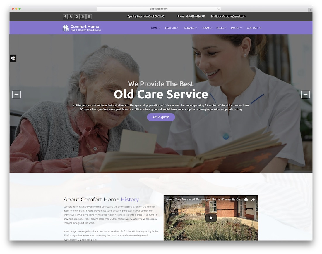 comfort home doctor website template