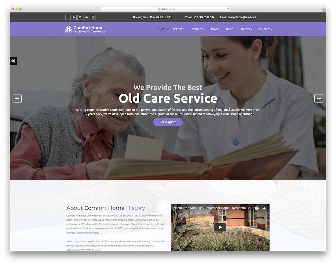 comfort home doctor website template