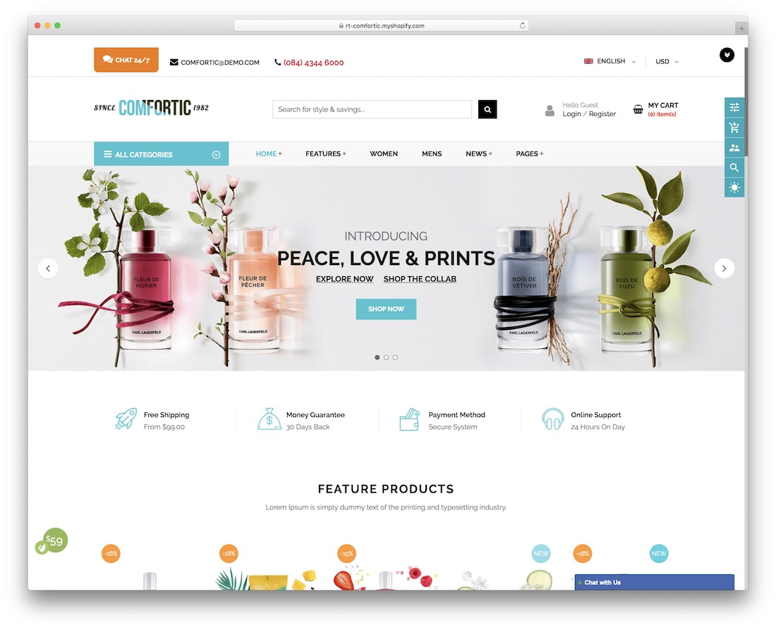 comfortic simple shopify theme