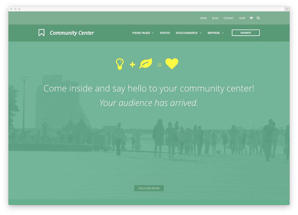 community center template