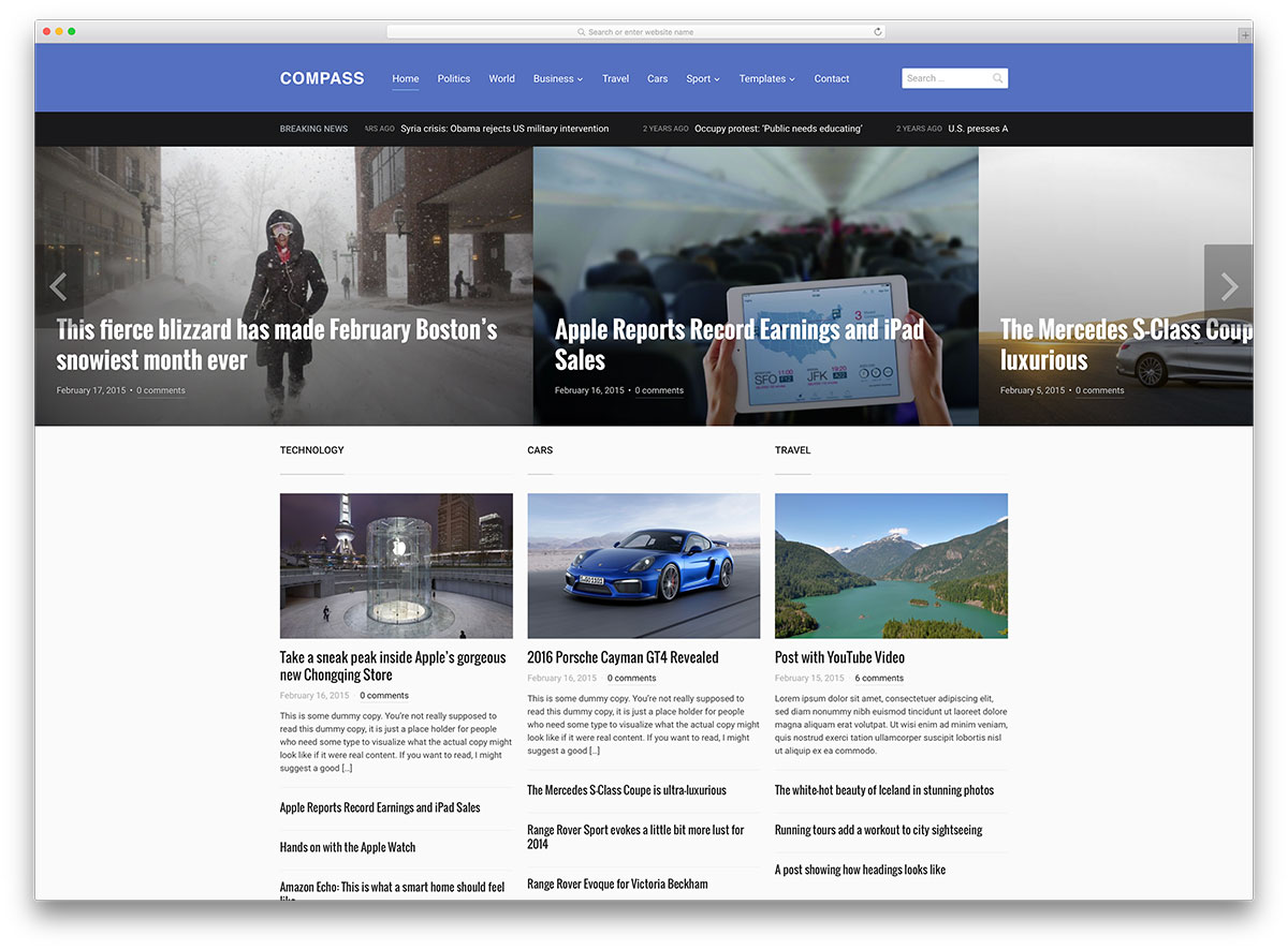 Top News Magazine WordPress Themes Colorlib - Online magazine template