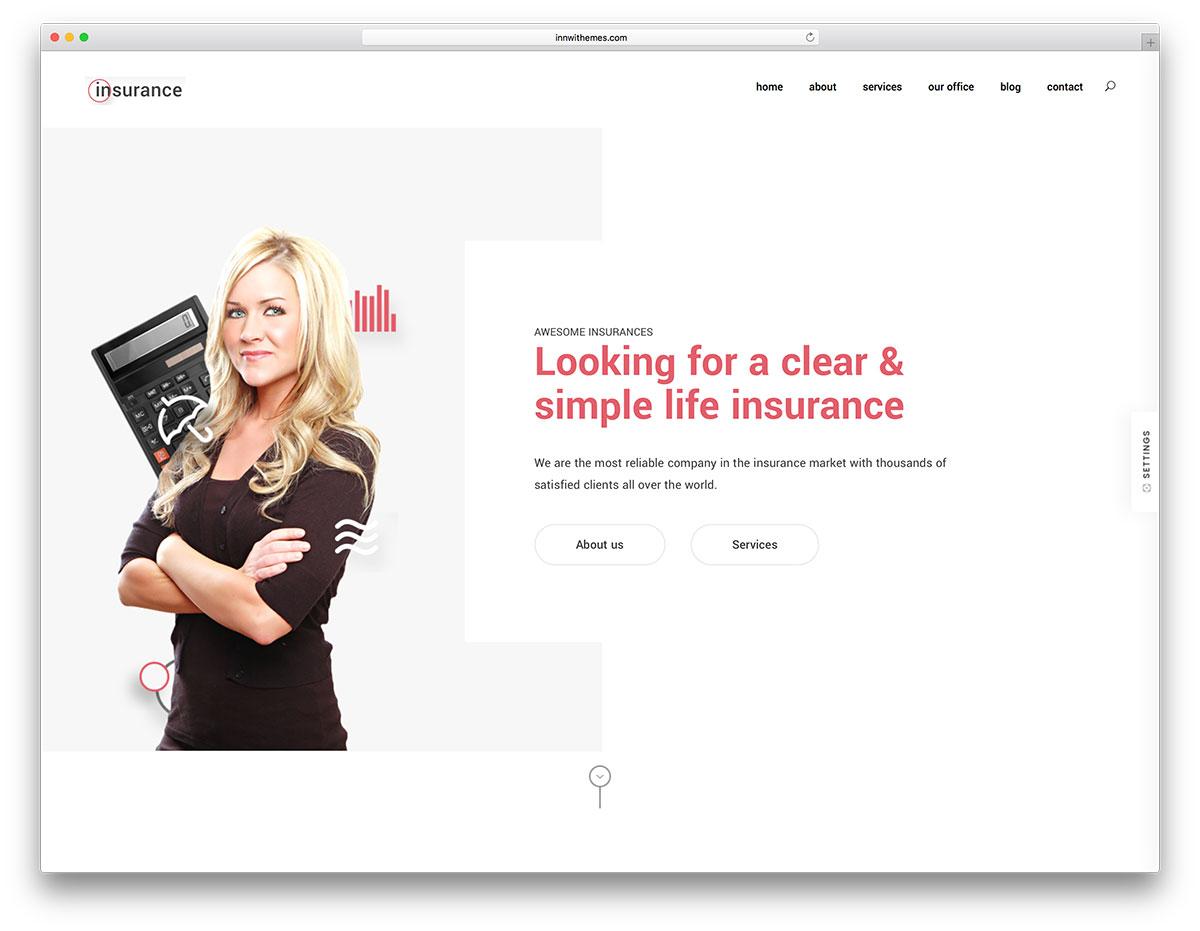 WordPress insurance theme