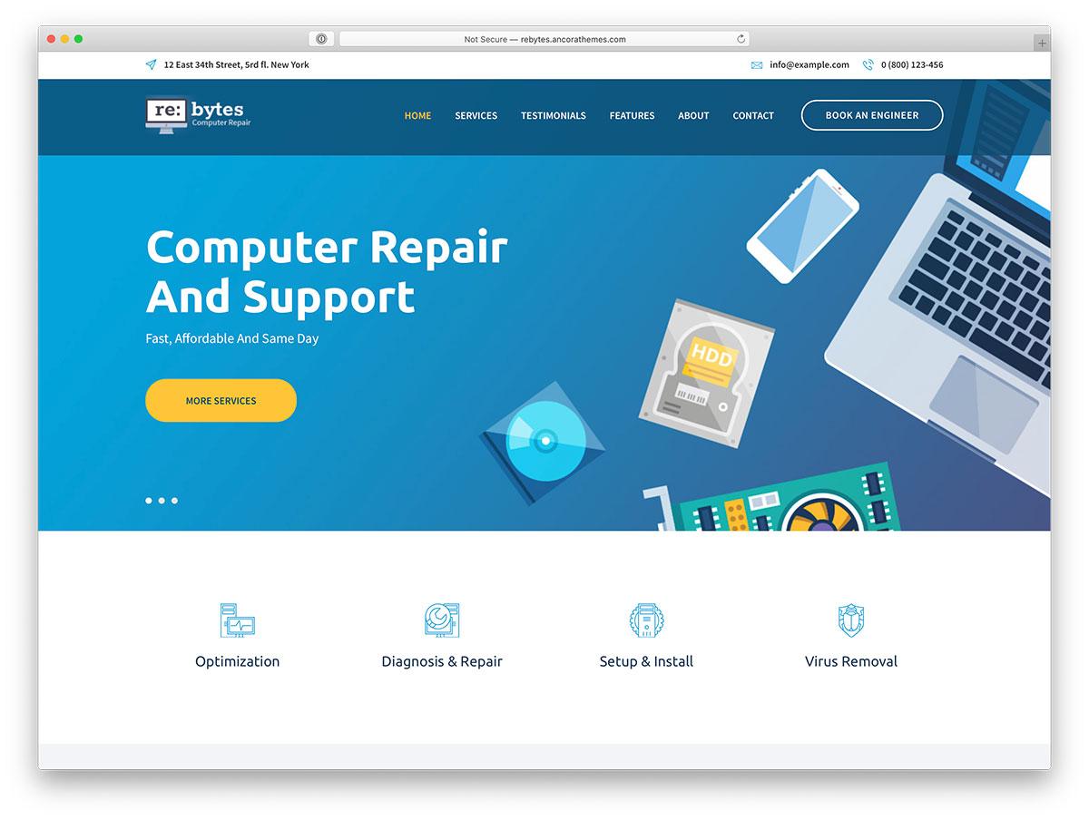 19 Best Computer Repair WordPress Themes 2020