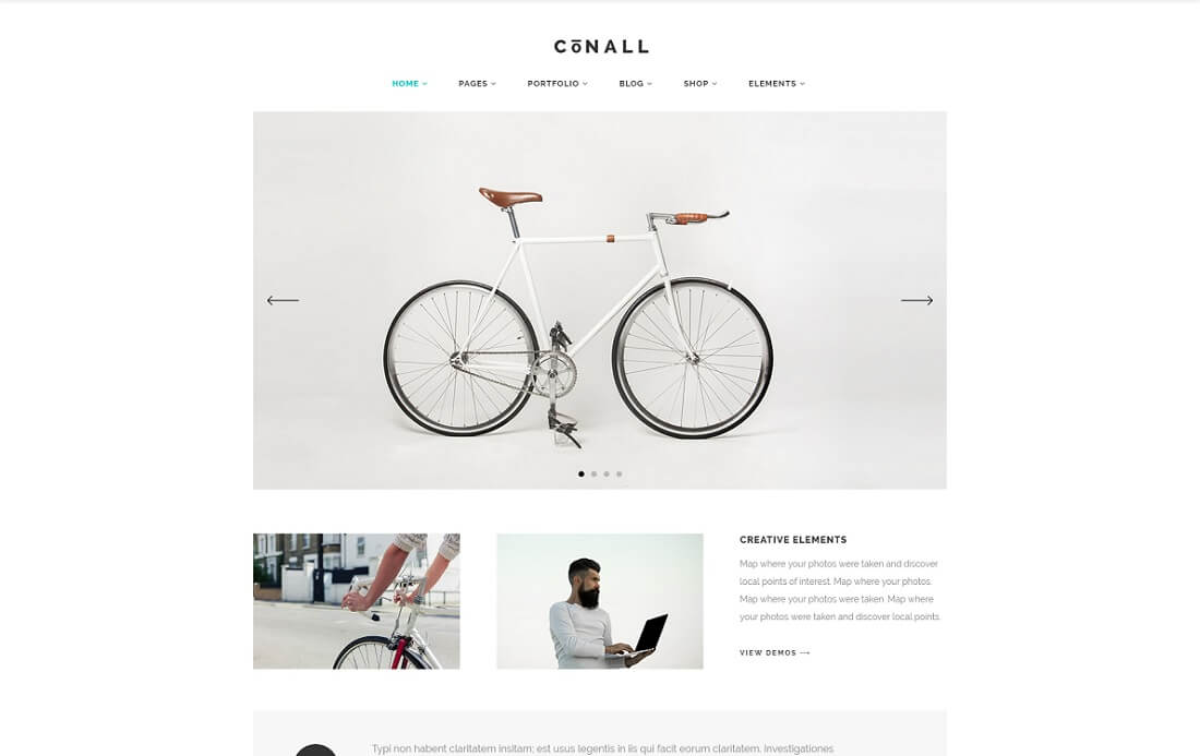 conall wordpress instagram theme