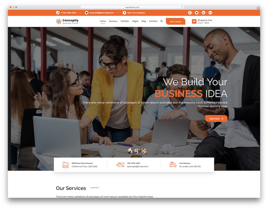 conceptly professional website template