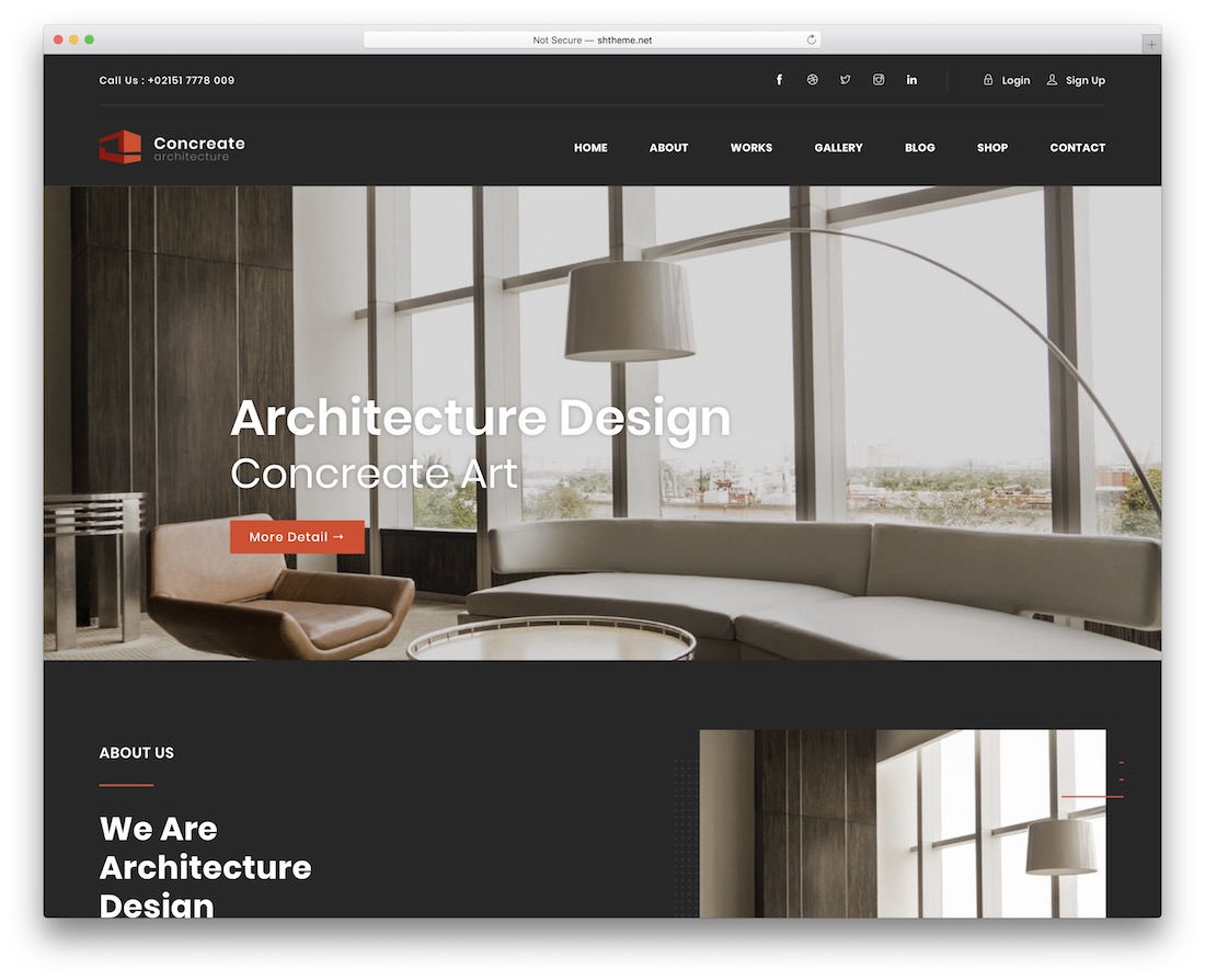concreate interactive website template