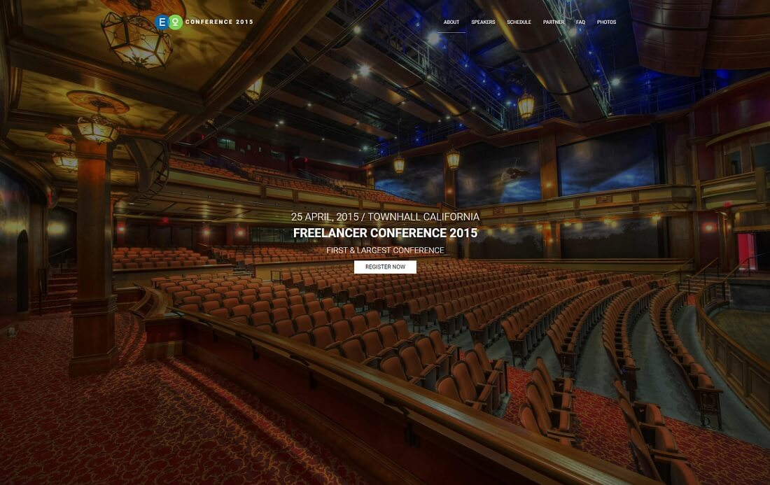 conference lite free event website template