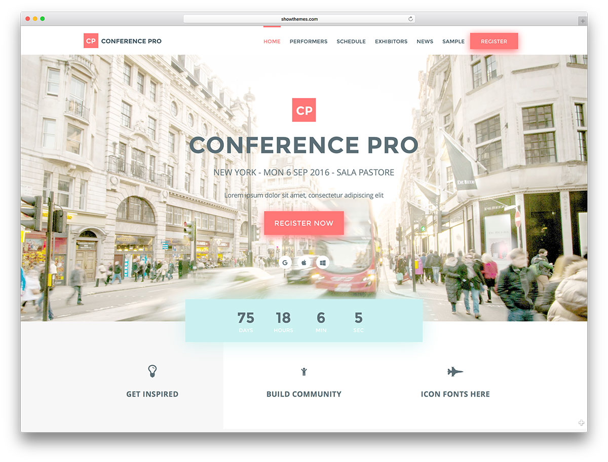 Conferencepro Conference Landing Page Website Template
