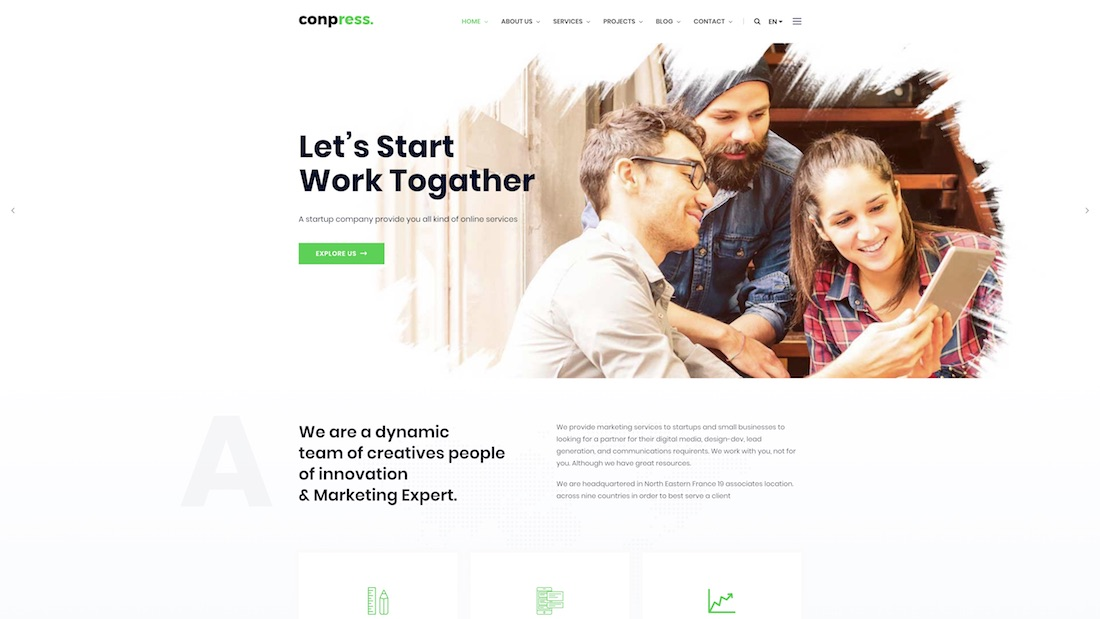 conpress website template