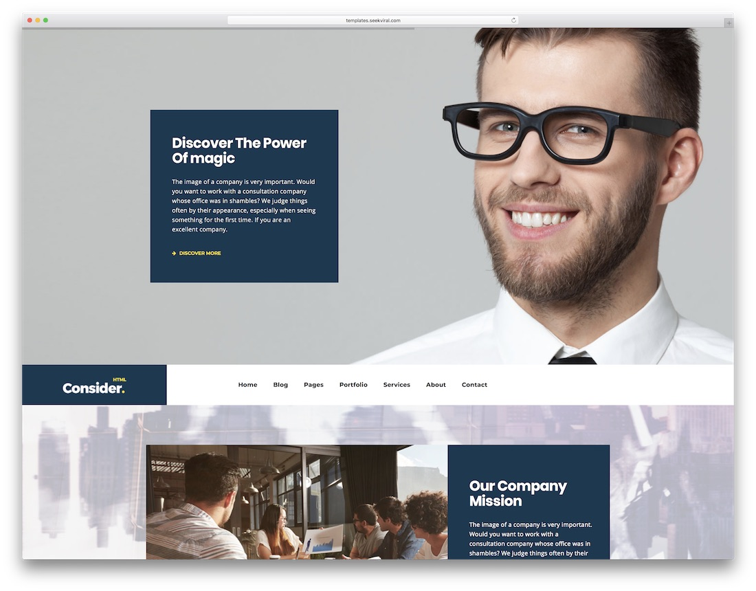consider professional website template