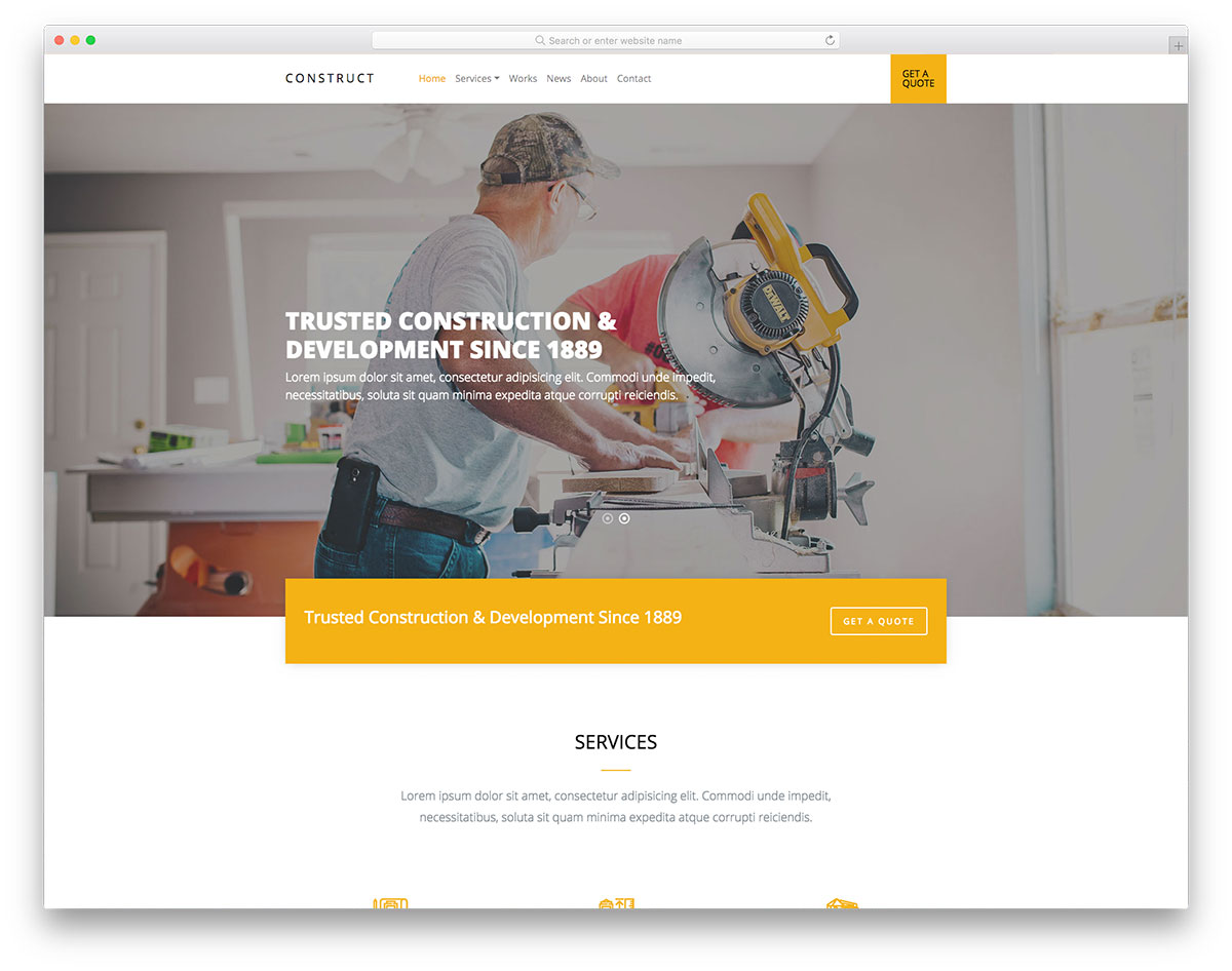 24 Best Free Construction Website Templates 2018 - Colorlib
