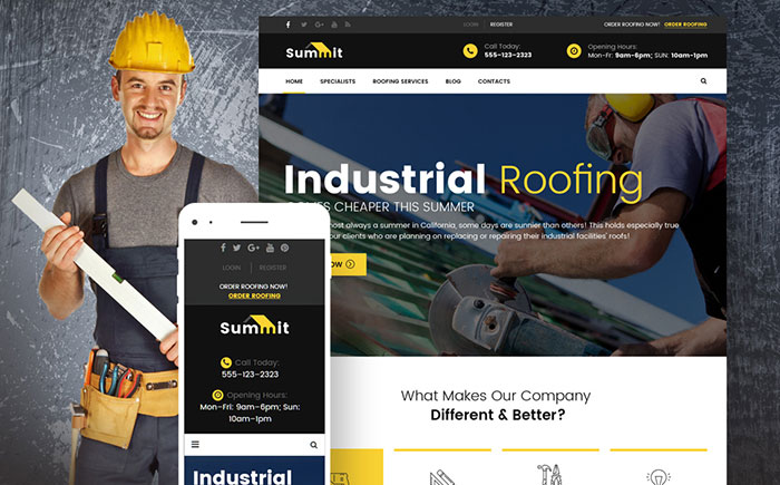 Summit - Roofing Responsive WordPress Theme