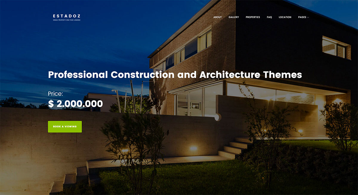 The New Selection Of Top 24 Professional Construction And Architecture Themes 2018