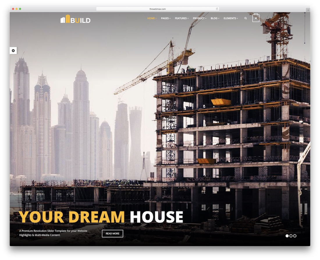 construction bootstrap business website template