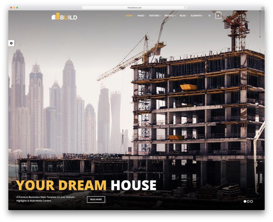 construction bootstrap business website template