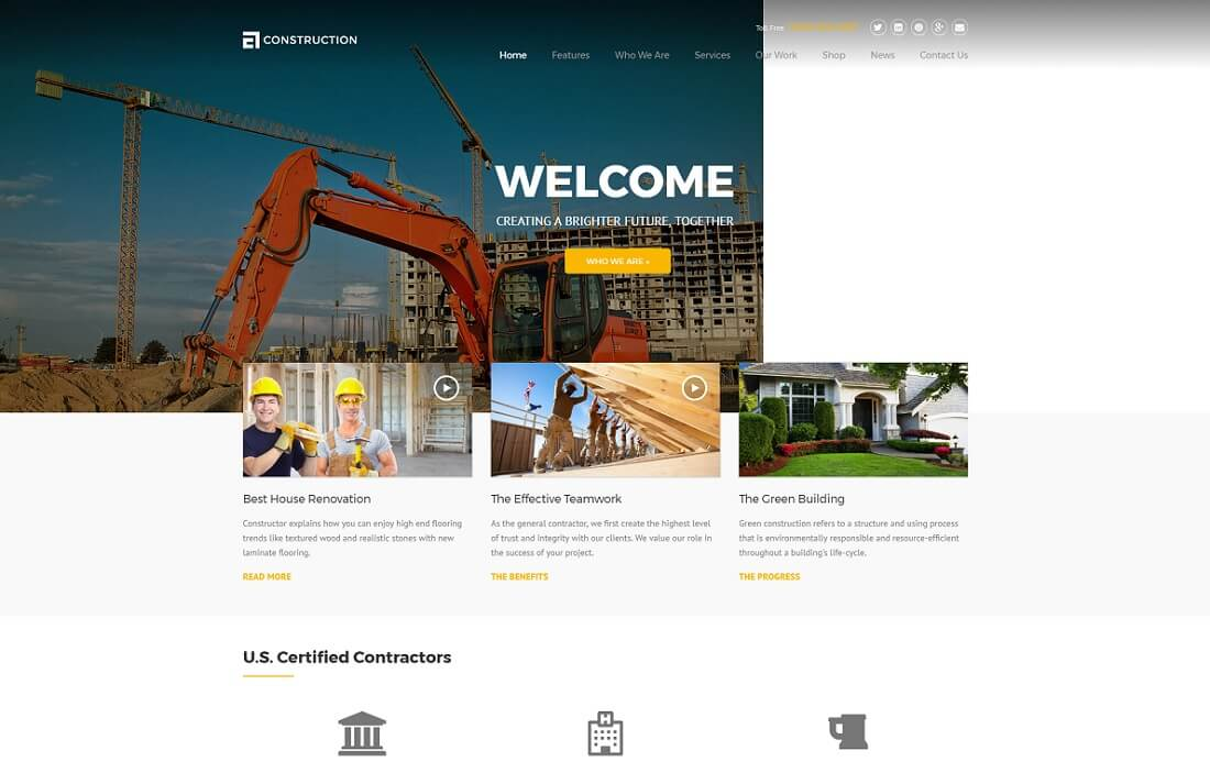 construction drupal business template