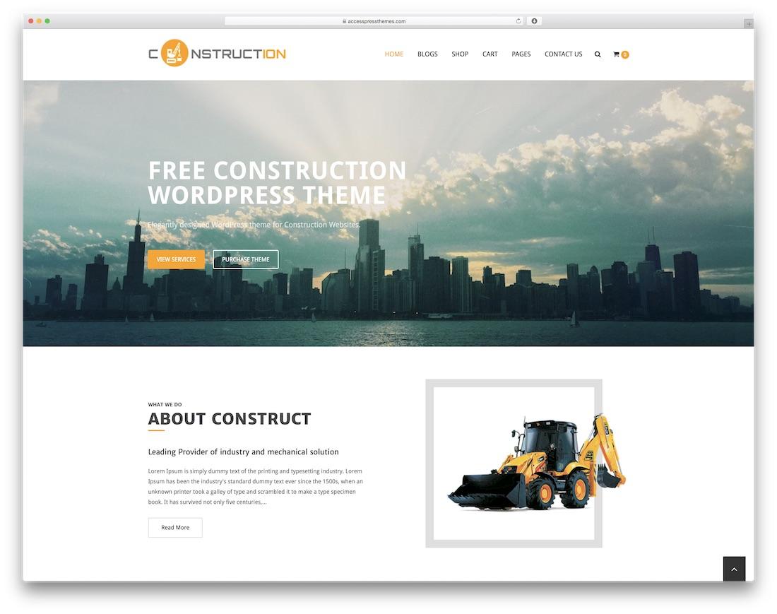 construction free construction website template - Free Website Design Templates