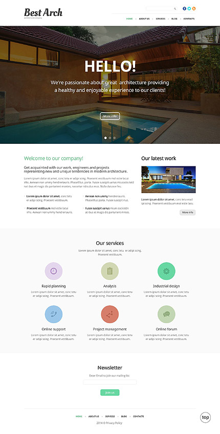 Architectural WP Theme