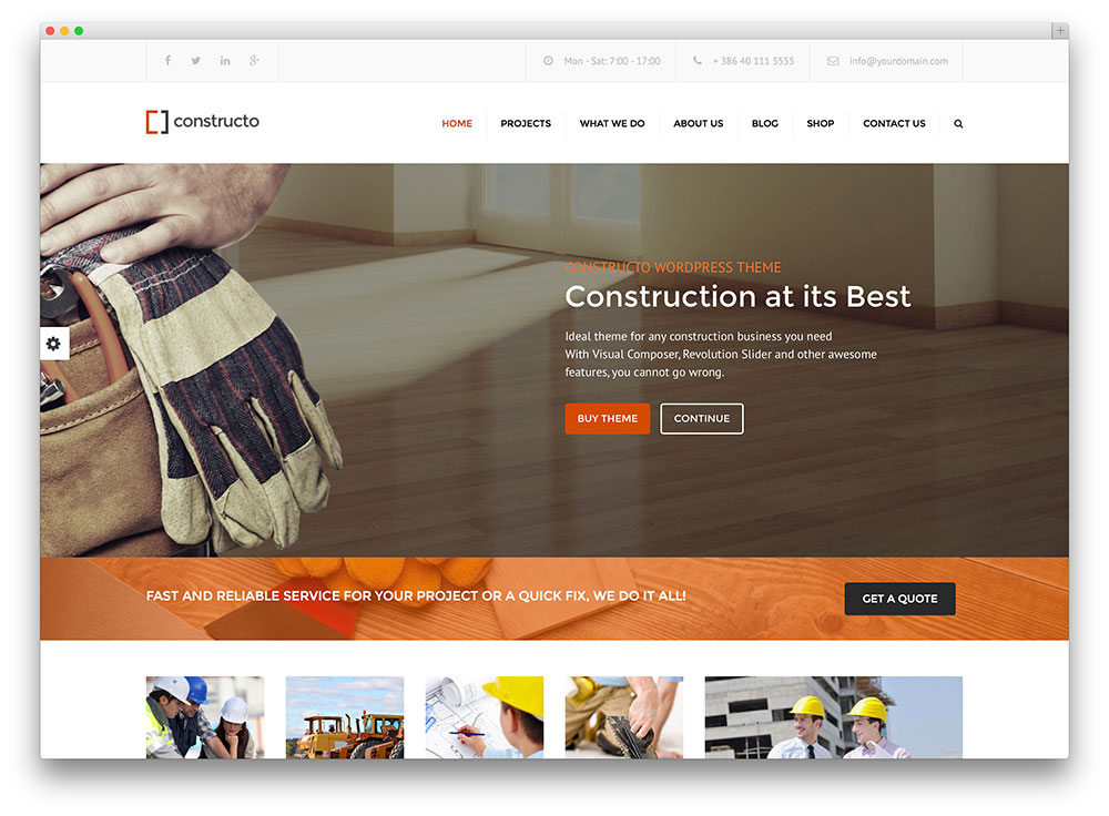 45 best construction company wordpress themes 2018 colorlib