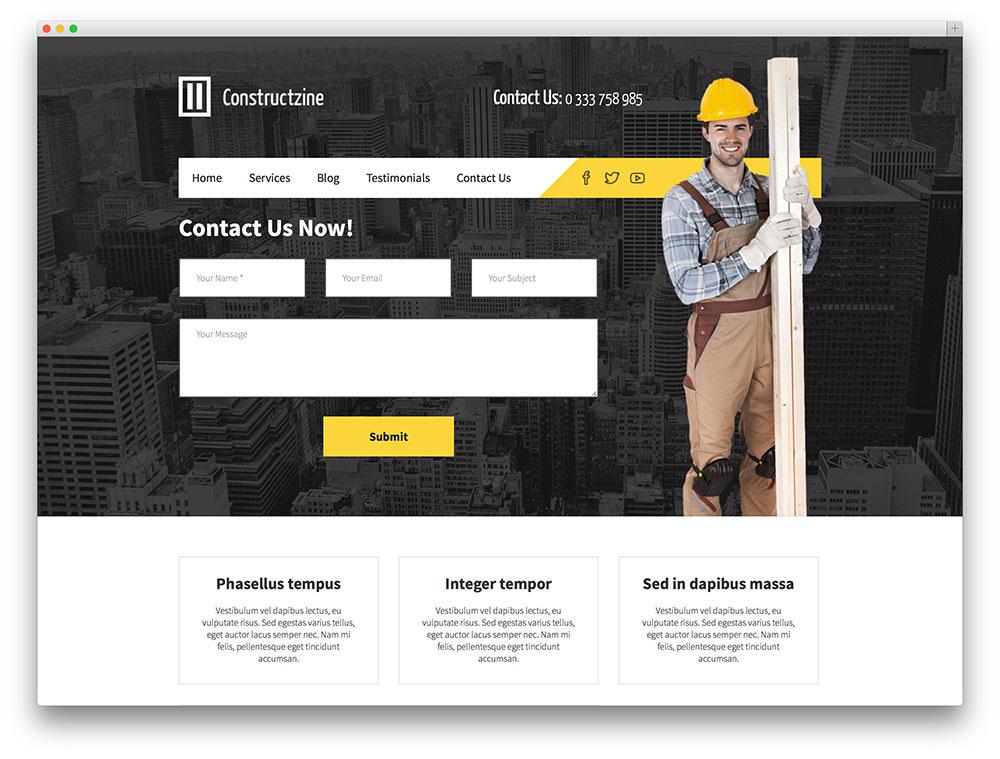 30 Best Construction Company WordPress Themes 2017 - colorlib