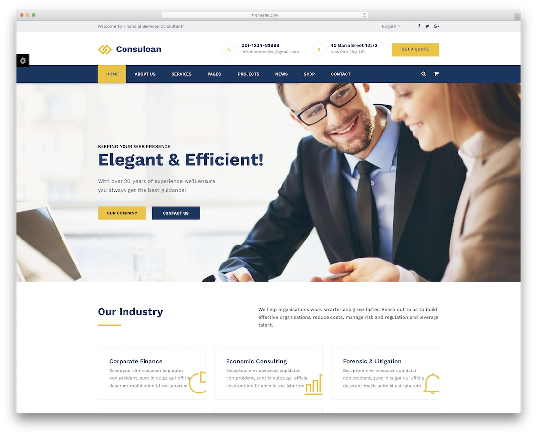 consuloan financial website template