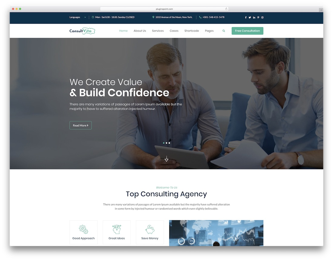 consult vita consulting website template