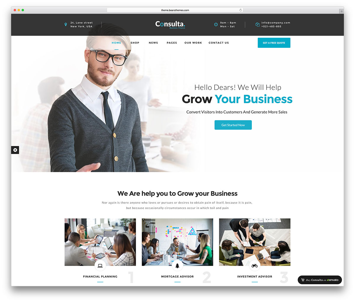 20 best business consulting wordpress themes 2018 colorlib consulta small business wordpress theme reheart