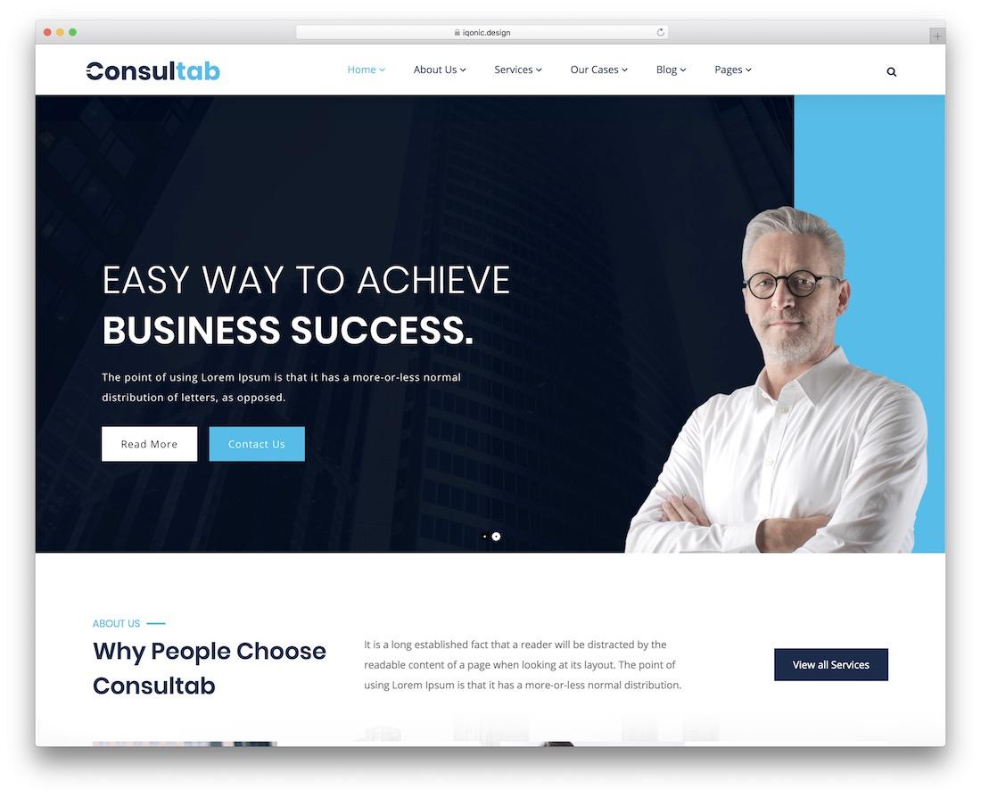 consultab accountant wordpress theme