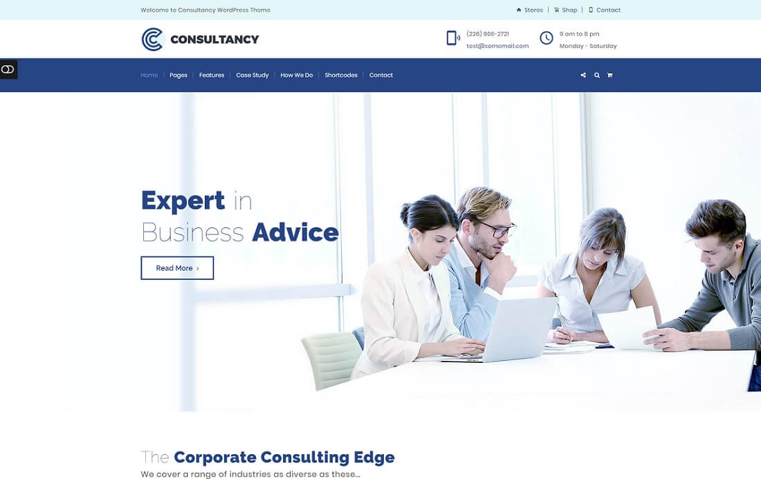 consultancy cryptocurrency wordpress theme
